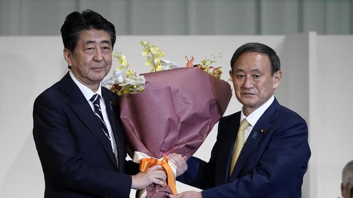 Yoshihide Suga. AP/Koji Sasahara