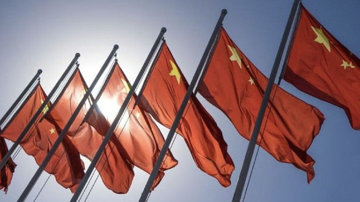 Ilustrasi bendera China. AP/
