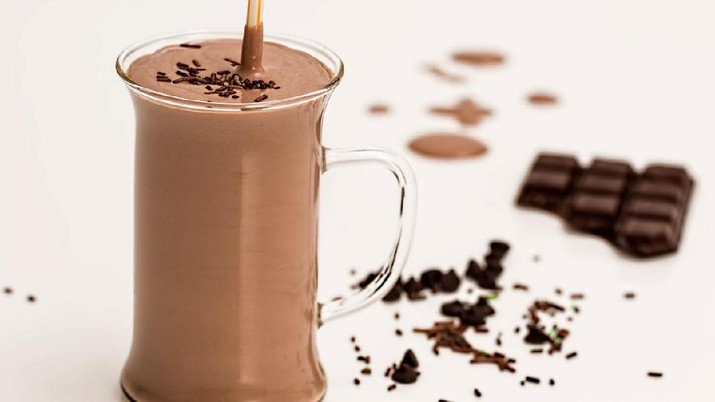 Ilustrasi susu cokelat. (Foto: Pixabay)