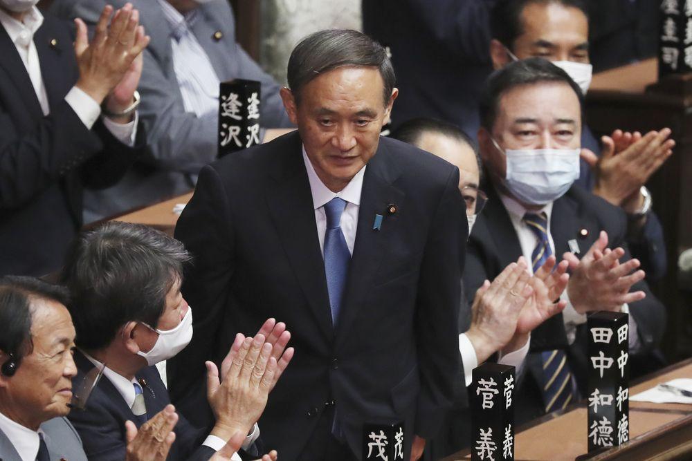 Yoshihide Suga resmi jadi PM baru Jepang. AP/Eugene Hoshiko