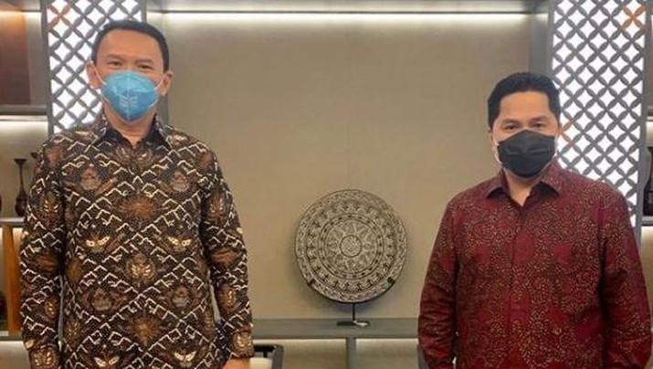 Komisaris Utama Pertamina Basuki BTP Ahok dan Menteri BUMN Erick Thohir (Instagram/ Basukibtp)