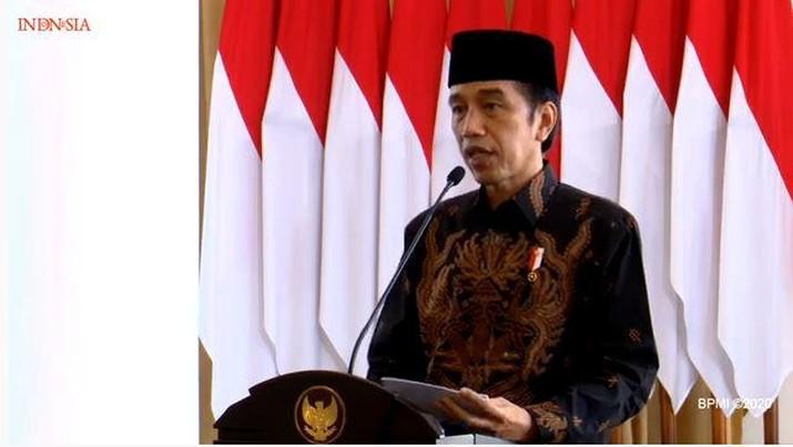 Jokowi di Peresmian Pembukaan Konferensi Besar XXIII Gerakan Pemuda Ansor Tahun 2020, 18 September 2020 (Tangkapan Layar BPMI 2020)