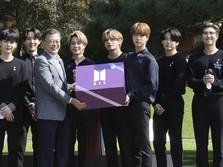 Sambangi Presiden Moon, BTS Beri