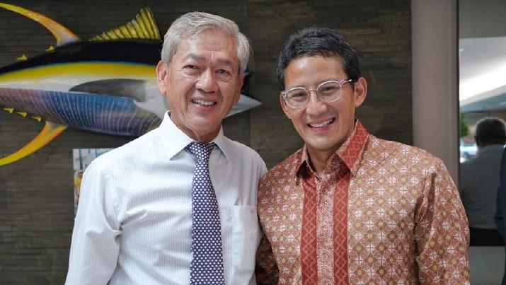 Edwin Soeryadjaya dan Sandiaga Uno/ Twitter @sandiuno