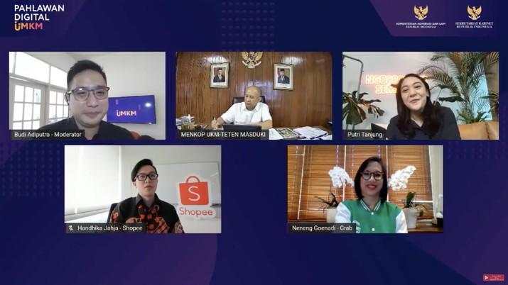 Press Conference Pahlawan Digital UMKM - 30 Inovator Digital Umkm (Tangkapan Layar Youtube KemenkopUKM)