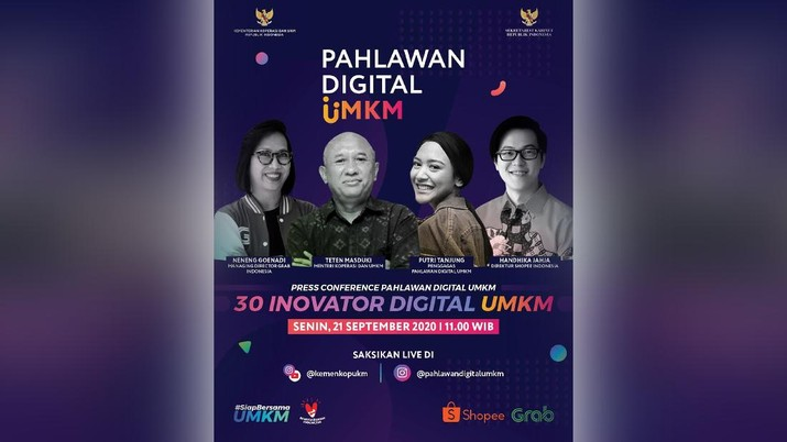 Press Conference Pahlawan Digital UMKM - 30 Inovator Digital Umkm (Tangkapan Layar Youtube KemenkopUKM)