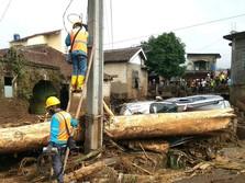 PLN Mulai Nyalakan Listrik Warga Terdampak Banjir Sukabumi