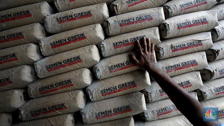 Produksi Semen Gresik, PT Semen Indonesia (CNBC Indonesia/Tri Susilo)