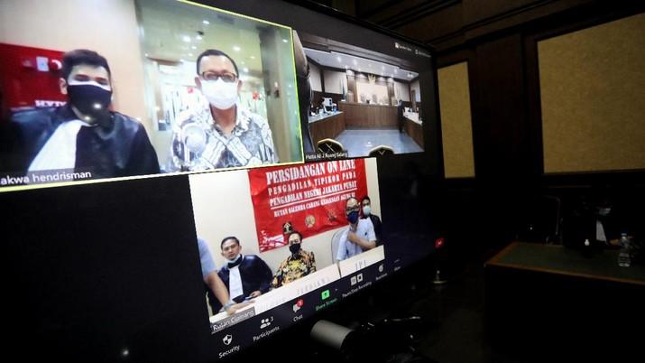 SIdang Tuntutan Jiwasraya (CNBC Indonesia/Andrean Kristianto)