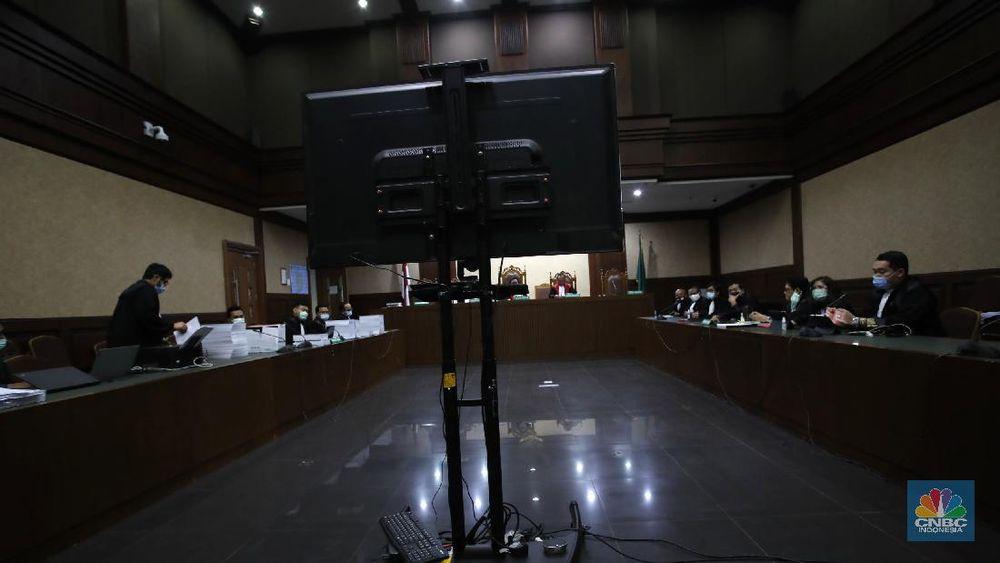 Sidang Tuntutan Jiwasraya (CNBC Indonesia/Tri Susilo)
