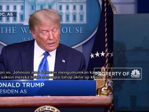 Trump Segera Setujui Penggunaan Vaksin Covid-19