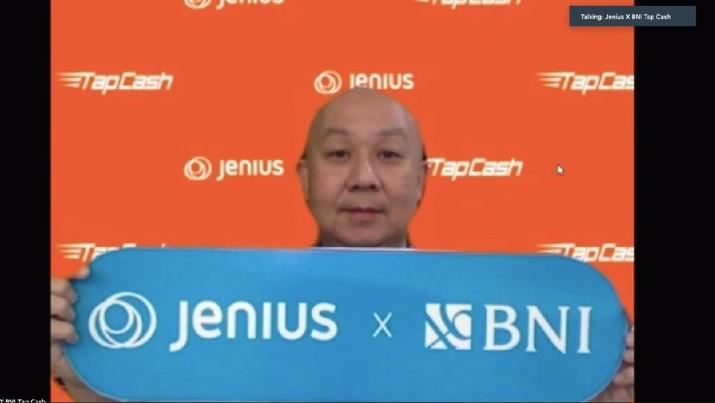 Virtual Press Conference Kolaborasi Jenius X BNI TapCash