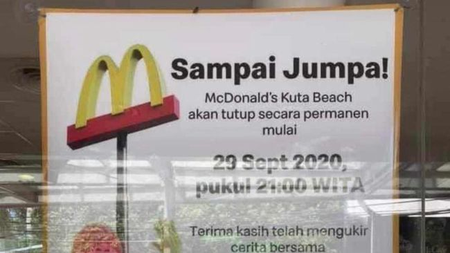 Goodbye Mcdonald Kuta Beach