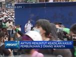 Aktivis Feminis Bentrok di Mexico City