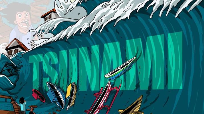 Infografis/Waspada!  Ada Potensi Tsunami 20 Meter  Hantam Jawa/Aristya Rahadian Krisabella