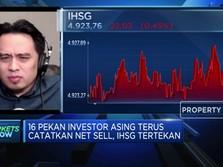 Investor Asing Terus Catatkan Net Sell, IHSG Kembali Tertekan