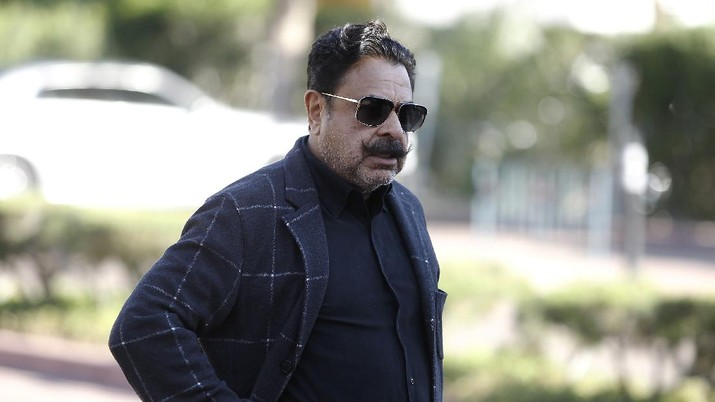 Jacksonville Jaguars owner Shahid Khan arrives during the annual NFL owners meetings Sunday, March 24, 2019, in Phoenix. (AP Photo/Ralph Freso)