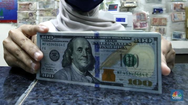 Ilustrasii Dollar AS (CNBC Indonesia/ Tri Susilo)