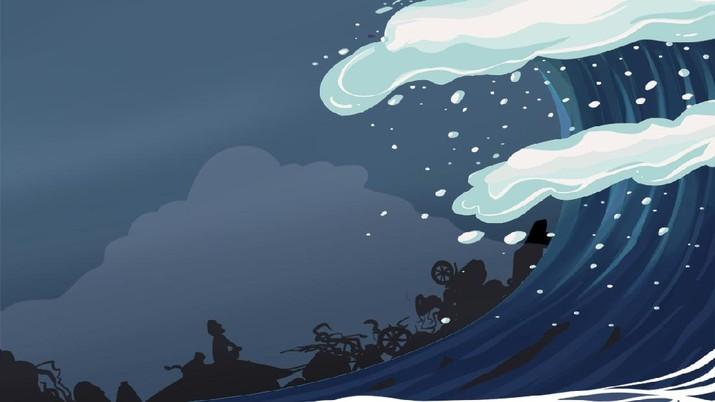 INFOGRAFISl, Tsunami Besar RI