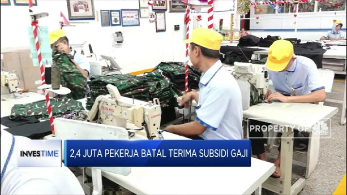 2,4 Juta Pekerja Batal Terima Subsidi Gaji (CNBC Indonesia TV)