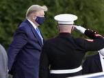Positif Corona, Ini Penampakan Trump Dilarikan ke RS Militer