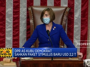 DPR AS Kubu Demokrat Sahkan Paket Stimulus Baru USD 2,2 T