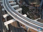 Pecah Rekor, Longspan Terakhir LRT Jabodebek Resmi Tersambung