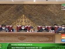 Tok! DPR Sahkan RUU Omnibus Law Cipta Kerja Jokowi Jadi UU