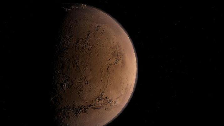 Ilustrasi planet Mars. (DasWortgewand/Pixabay)