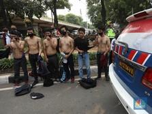 Duh! Pelajar Lempar Batu ke Arah Polisi di Palmerah Jakarta