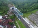 Widih! Kerennya Terowongan KA Double Track di Selatan Jawa