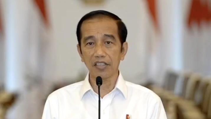 Jokowi memberikan keterangan Pers terkait Undang-Undang Cipta Kerja, Istana Bogor, 9 Oktober 2020. (Tangkapan layar Youtube Setpres RI)