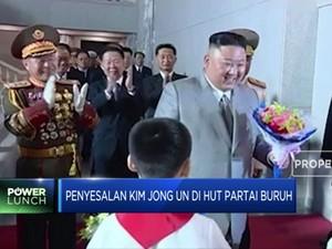 Kim Jong Un Tunjukkan Rasa Penyesalan di HUT Partai Buruh