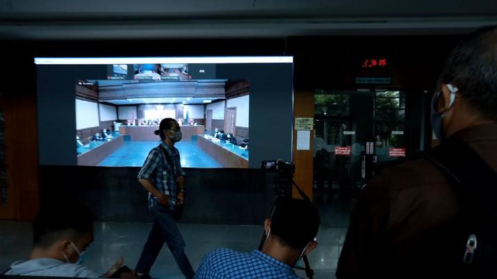 SIdang Lajutan Kasus Jiwasraya (CNBC Indonesia/Tri Susilo)
