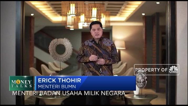 Erick Thohir Buka Suara Soal Merger 3 Bank Syariah BUMN