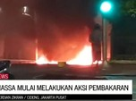 Waduh! Massa Mulai Lakukan Pembakaran di Cideng Jakarta Pusat