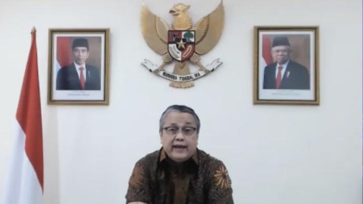 Perry Warjiyo di Rapat Dewan Gubernur (RDG) Bank Indonesia Bulanan - Oktober 2020 (Youtube Bank Indonesia)