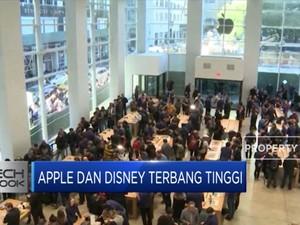 Saham Apple dan Disney Terbang Tinggi Gara-Gara Ini