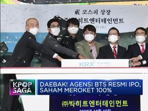 Daebak! Saham Agensi BTS, Big Hit Entertainment Meroket 100%