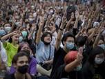 Thailand Makin Gawat, 10.000 Pengunjuk Rasa Turun ke Jalan
