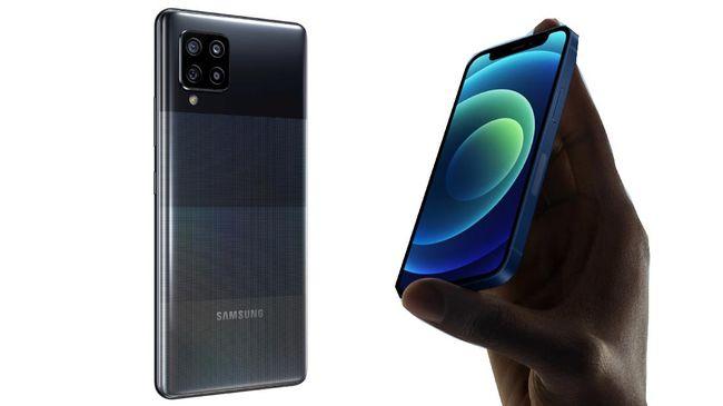 iPhone 12 Mini vs Samsung Galaxy A42, Dua Ponsel Murah 5G
