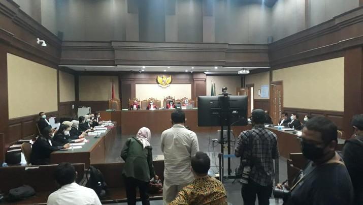 Sidang Lanjutan Kasus Jiwasraya (CNBC Indonesia/Ferry Sandi)