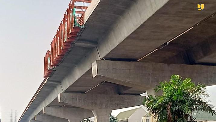 Progres Konstruksi Jalan Tol Layang Dalam Kota Jakarta Ruas Kelapa Gading-Pulo Gebang Capai 71%. (Dok. Kementerian PUPR)