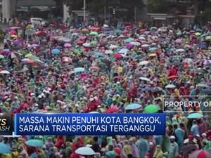 Unjuk Rasa di Bangkok Berlanjut, 20 Stasiun Ditutup
