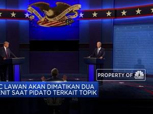 Ada Aksi Mikrofon Mati di Debat Capres AS