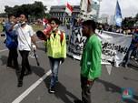Kompak! Potret Massa Mahasiswa-Buruh Tolak Keras Omnibus Law
