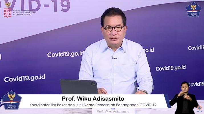 Koordinator Tim Pakar dan Juru Bicara Pemerintah untuk Penanganan Covid-19 Ketua Bidang Perubahan Perilaku Satgas Covid-19 Wiku Adisasmito. (tangkapan Layar Youtube BNPB Indonesia)