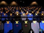 Penampakan Bioskop Buka Lagi, Banyak Tanda Silang di Kursi!