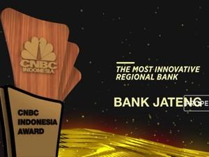 Bank Jateng Dianugerahi The Most Innovative Regional Bank