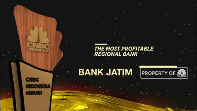 BJTM Bank Jatim Raih Penghargaan The Most Profitable Regional Bank